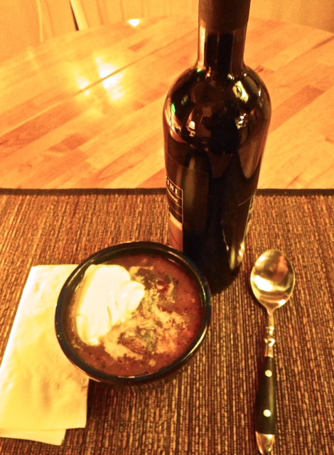 Gumbo and wine